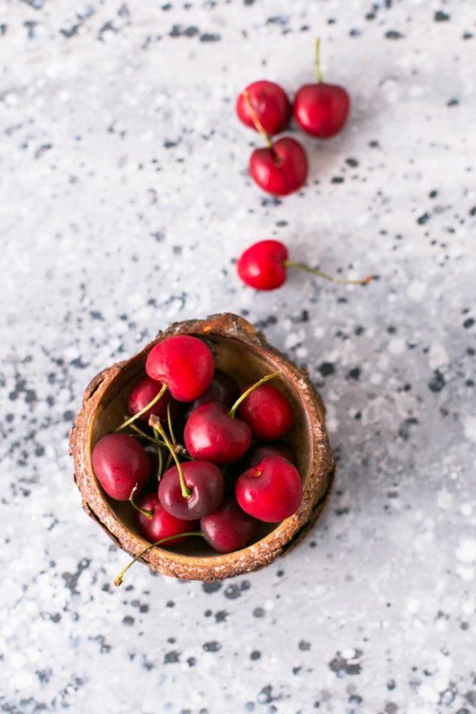 desayuno frutos rojos cerezas saludable