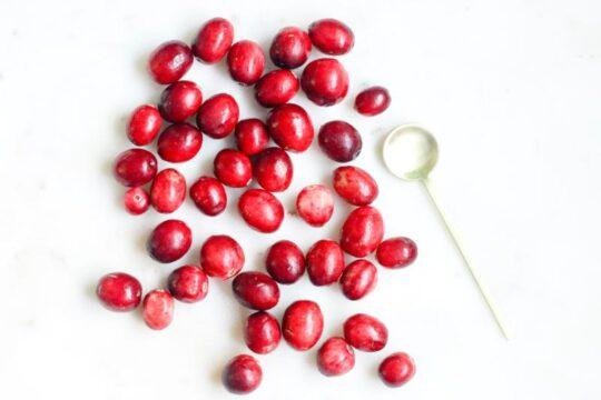 comer arandanos rojos o cranberries