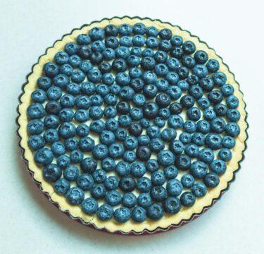 receta tarta de arandanos azules