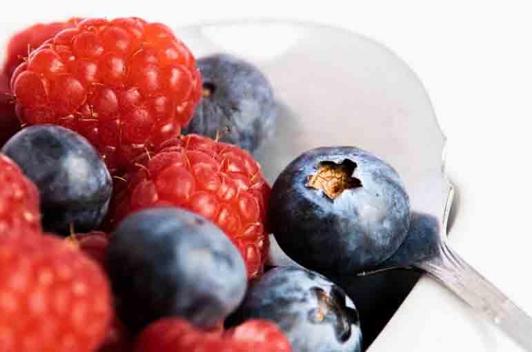 frutas del bosque fresas arandanos